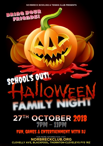 Halloween Family Fun Night 2018 at the Norbreck Club