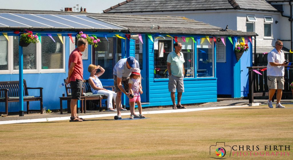 Norbreck Bowling and Tennis Club learning to bowl at Club Day 2018