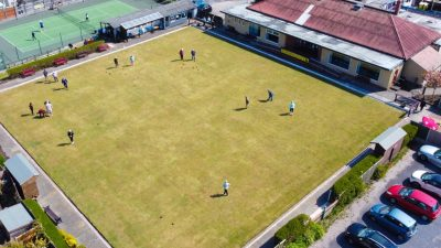 Overhead shot of Norbreck Bowling and Tennis Club in Blackpool