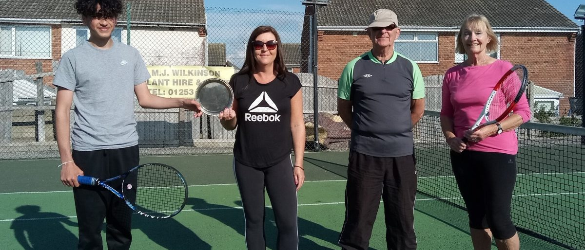 Mixed doubles tennis comp winners May 21 - Norbreck Bowling and Tennis Club