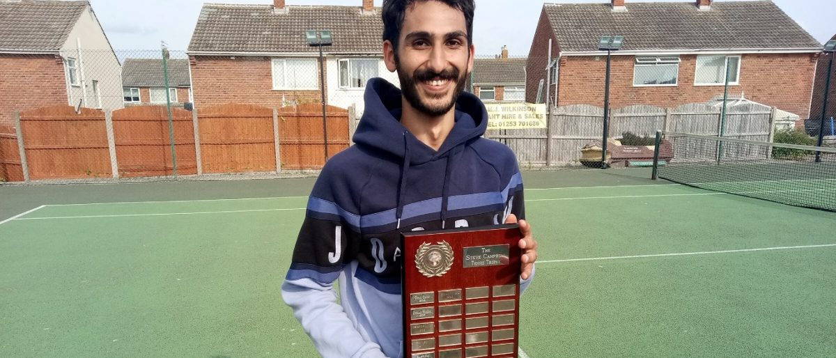 Winner of the Steve Campbell Trophy 2021 at Norbreck Bowling and Tennis Club